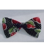 Cherry White Polka Dot Hair Bow-Rockabilly/PinUp/Retro - £4.02 GBP
