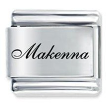 9mm MAKENNA Laser Name Italian Charm ( F ) - $1.99