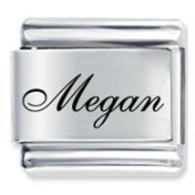 9mm MEGAN Laser Name Italian Charm ( F ) - $1.99