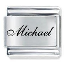 9mm MICHAEL Laser Name Italian Charm ( F ) - $1.99