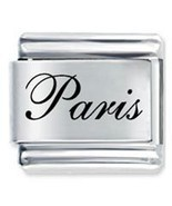 9mm PARIS Laser Name Italian Charm ( F ) - $1.99