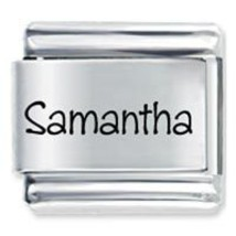 9mm Samantha Laser Name Italian Charm ( P ) - $1.99