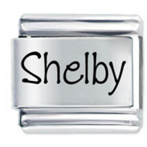 9mm SHELBY Laser Name Italian Charm ( P ) - $1.99