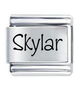 9mm Skylar Laser Name Italian Charm ( P ) - $1.99