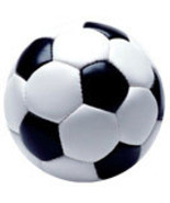 Soccer Ball Auto or Locker Magnet Metal, Looks 3D - $4.99