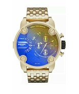 BRAND NEW DIESEL DZ7347 GOLD STAINLESS STEEL CHRONOGRAPH MEN'S WATCH - £174.13 GBP