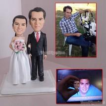 Turui Figurines wedding cake topper figurines bride groom doll sculpture... - $148.00