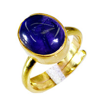 appealing Amethyst Gold Plated Purple Ring Natural wholesales US gift - $17.99