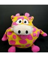 "Tummy Stuffers Wild Ones Neon Yellow Pink Giraffe 12"" Large Plush Stuffe... - $17.81"