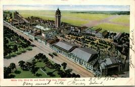Vtg Postale 1905 Udb Chicago Illinois Il Blanc Ville Amusement Park Curt Teich - $24.88