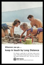 Bell System Long Distance Telephone 1965 Vintage Communications Beach Sa... - $10.99