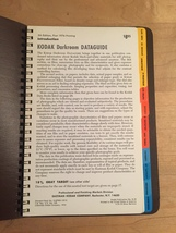 Kodak Darkroom Dataguide Book - 5th Edition, First 1976 edition image 2