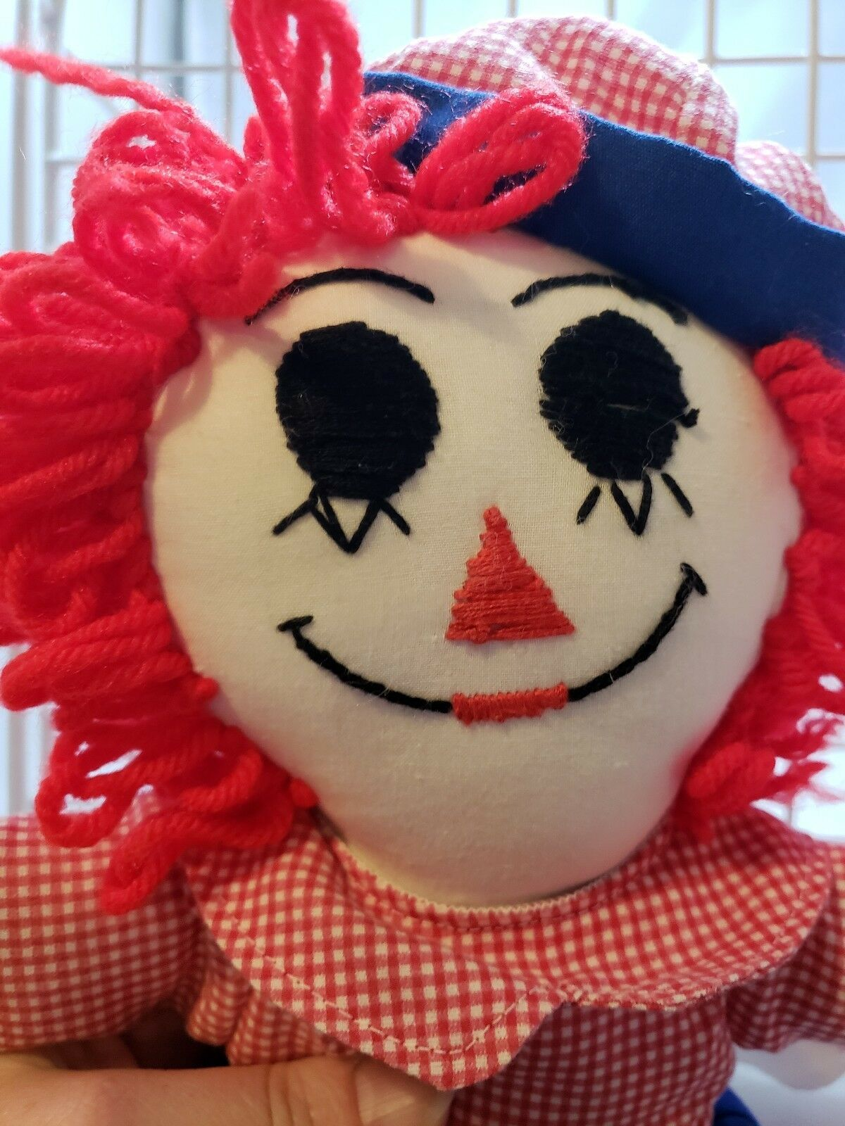 """Rag Doll Raggedy Ann and Andy Wrong Way Socks Embroidered Eyes 14"""""""