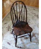Vintage Leavens Furn Boston Windsor Side Chair Dark Wood  - $70.00