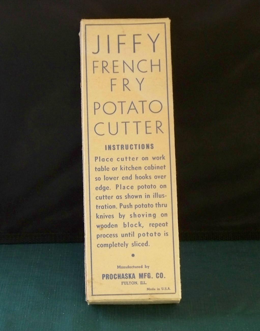 Jiffy French Fry Potato Cutter Original Box Very Clean