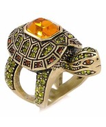 Size 7 Heidi Daus Slow Poke Turtle Crystal Ring - $70.00