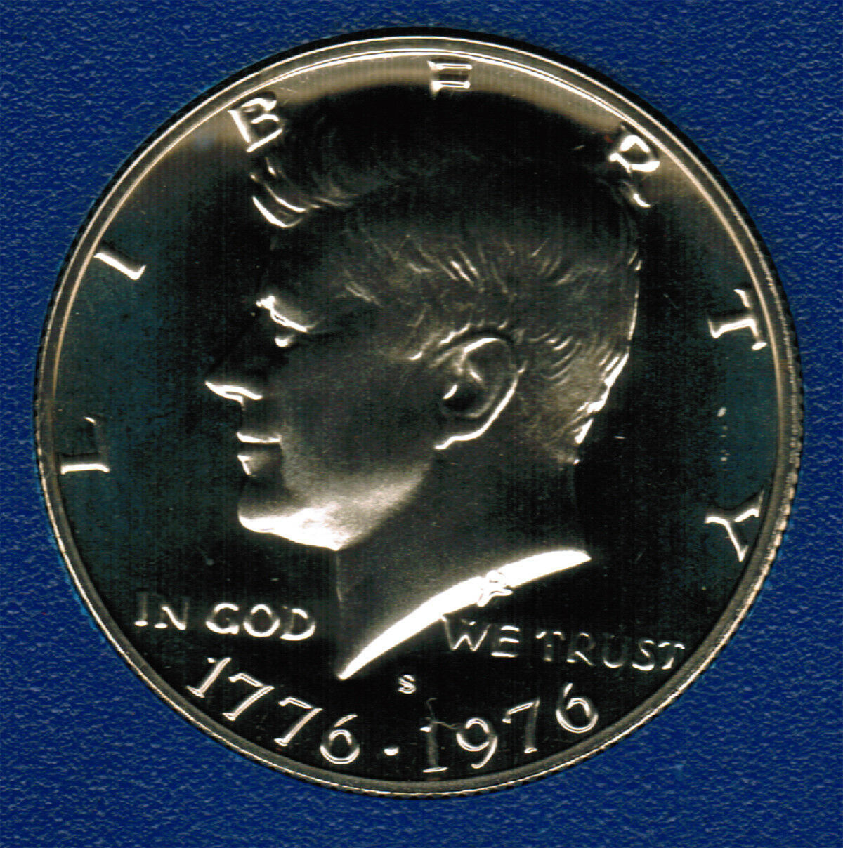1976 S  Proof Kennedy Half Dollar From 1975 Proof set CP2014