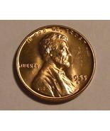 1955 - S Copper Lincoln Wheat Cent (BU) - €0,89 EUR