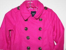 Gap Kids NWT Girl's XXL 13 Pink Boucle' Wool Blend Pea Coat Jacket image 3