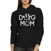Dog Mom Unisex Black Cute Graphic Hoodie For Dog Owners Round Neck - $25.99+