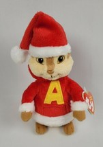 """Ty Alvin The Chipmunk Christmas Beanie Baby 7"""" New - $28.99"""