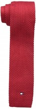Tommy Hilfiger Men's Flag Logo Solid Skinny Tie Red - $32.18