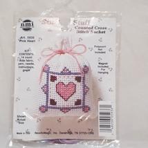Stitch N Stuff Pink Heart Cross Stitch Kit  New  5936 - $5.50