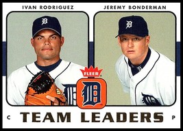 2006 Fleer Team Leaders #TL-10 Ivan Rodriguez/Jeremy Bonderman NM-MT Tigers - $2.49