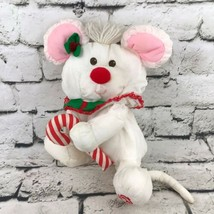 Vintage 1987 Fisher Price Christmas Puffalump Plush Mouse Stuffed Toy Flaw - $19.79
