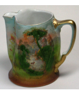 Royal Bayreuth Creamer Stag In Stream with Gazebo Scenic Tapestry Gold ... - $75.00