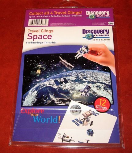 Primary image for Discovery Channel Travel Clings Space Explore Moon Mir Window Kids Astronaut NIP