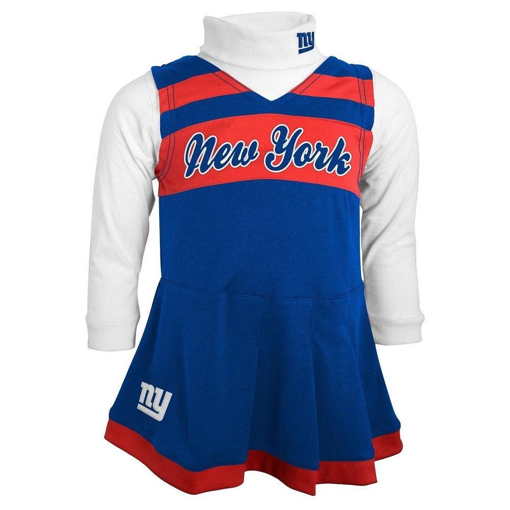 New York Giants Cheerleader Dress Girl's 4-6x 2-Piece Jumper Turtleneck NFL