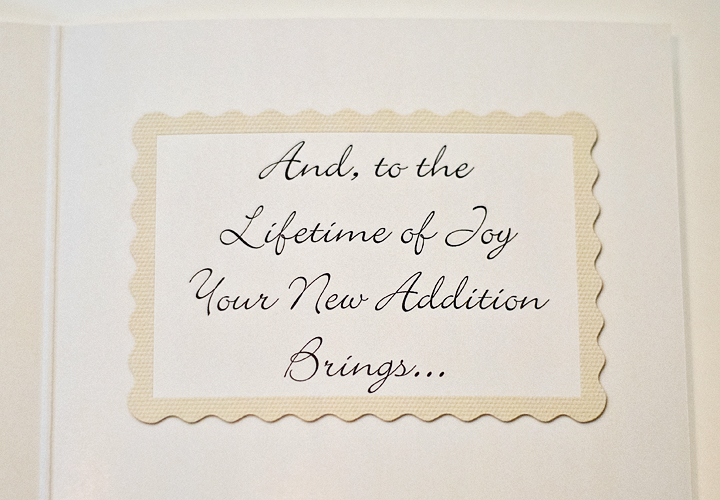'New Baby-Congratulations' - 5x7 Greeting Card w/ Envelope
