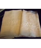 Napkins Pale Pink embroidered in White Mr. on one and Mrs. on the other - $5.00