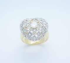 Heart Heirloom Style Ladies Fashion Ring Size 6 - £19.21 GBP