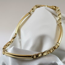18K 750 YELLOW GOLD SOLID BRACELET, YELLOW SATIN GOLD WITH PLATE MADE IN... - $1,282.00