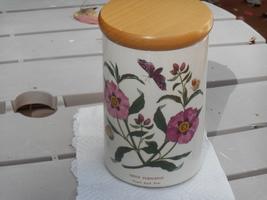 """Portmeirion Botanic Garden Purple Rock Rose Canister, 7.25"""" - $35.00"""
