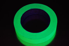 1 Inch Yellow UV Blacklight Reactive Fluorescent Gaffer Tape 1 Roll x 25... - $9.95