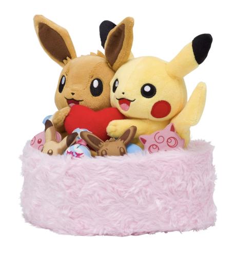 Pokemon Center Original Plush Doll Winter Pikachu Eevee Japan Game F/S Nintedo
