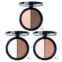 Double Colors Face Contour Powder Palette Brighten Makeup Effect Shimmer Highlig - $9.99