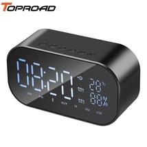 TOPROAD® Alarm Clock Bluetooth Speaker Portable Wireless Audio Receiver ... - $34.97