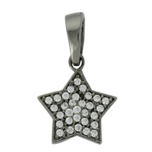 Star Of David  925 Sterling Silver Cubic Zircon Gemstone Cluster Women P... - $4.52