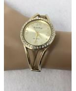 Ladies Peck & Peck PCP799 Gold Toned Bangle Bracelet Wrist Watch Rhinest... - $11.29