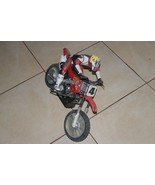 Radio Shack Honda CR250R Motorcross RC Dirt Bike Ricky Carmichael as is ... - $92.07