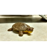 "3 Vintage Brown Turtle Hard Plastic Miniatures Hand Painted 1 5/8"" long - $5.89"