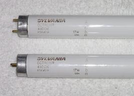 "Lot of 2 Sylvania FO17/741 4100K Octron 17 Watt Fluorescent Lamp Bulb F17T8 24"" - $9.99"
