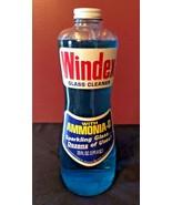 Vintage Grocery Advertising 1960s 20 oz Windex Glass Bottle FULL Hourgla... - $39.95