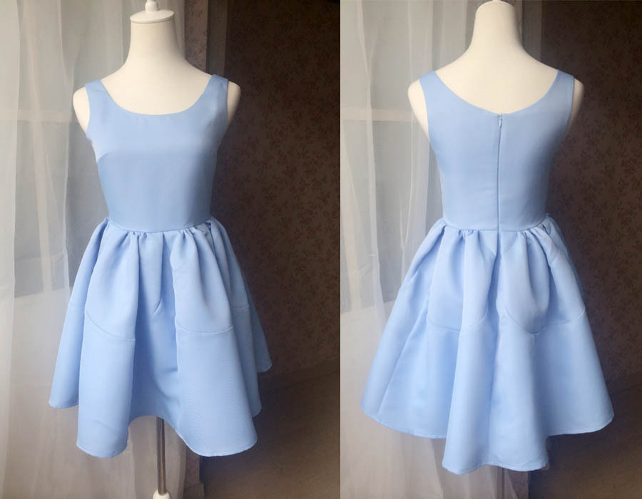 DUSTY BLUE Fit and flare Dress Blue Princess Dress Elegant Girl Party Dress NWT