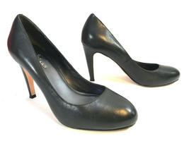 COLE HAAN black leather classic hidden platform dress pumps 8 FREE SHIP - $49.45