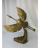 """Brass Flying Crane Bird Figure Statue 14.5""""  - $99.95"""